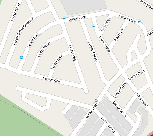 Lentor neighbourhood, where all the roads save two are named Lentor something